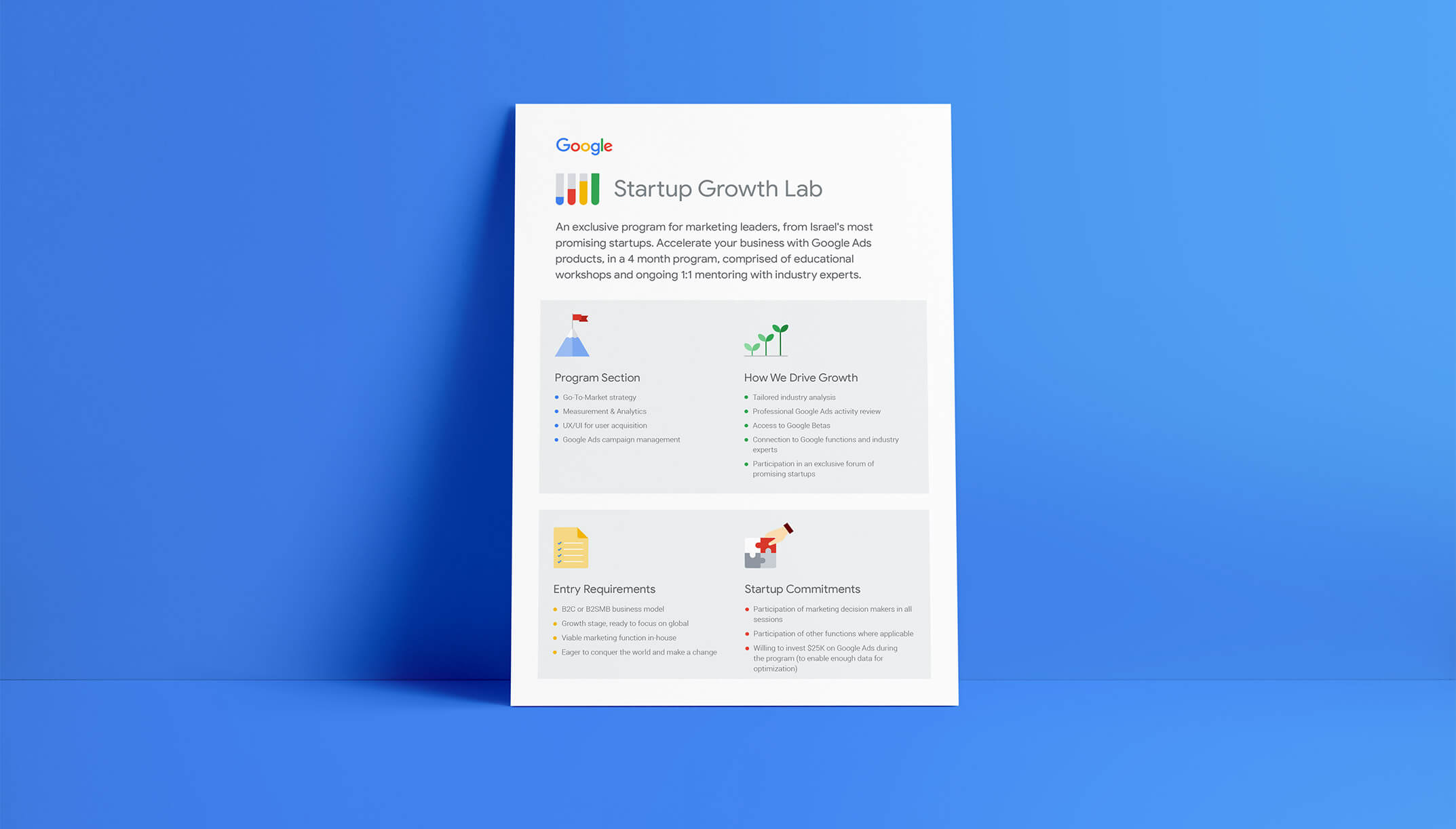 One-Pager-Google Startup Growth Lab