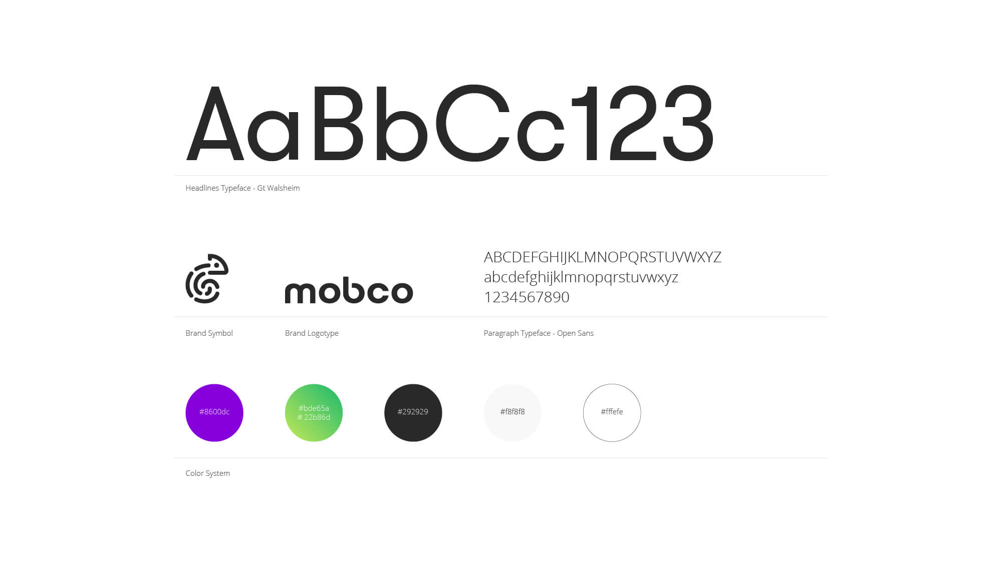 mobco brand guidelines page